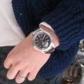【ハミルトン カーキ キング】にオリジナル時計ベルトを付けていただきました。