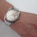 【ロレックス オイスター パーペチュアル デイトジャスト】にオリジナル時計ベルトを付けていただきました。