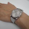 【ロレックス パーペチュアル デイトジャスト】にオリジナル時計ベルトを付けていただきました。