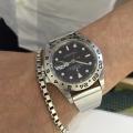 ロレックス エクスプローラーⅡにオリジナル時計ベルトを付けていただきました。