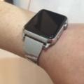 アップルウォッチ にオリジナル時計ベルトを付けていただきました。
