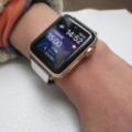 Apple Watch 2 ゴールドアルミニウムに【2nd】モデルを付けていただきました。